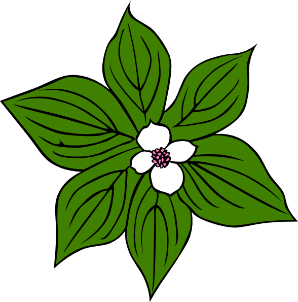 free vector Green Flower clip art