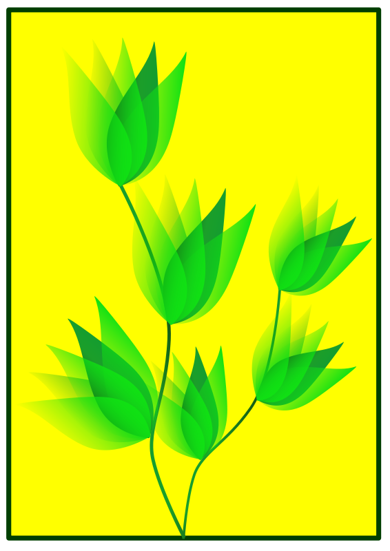 free vector Green Flower