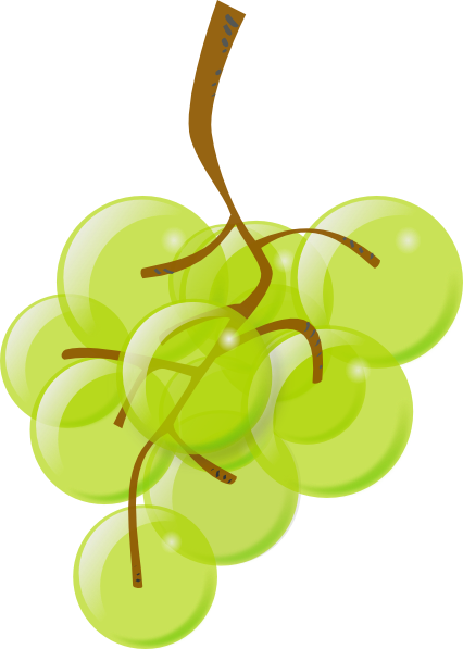 free vector Green Grapes clip art