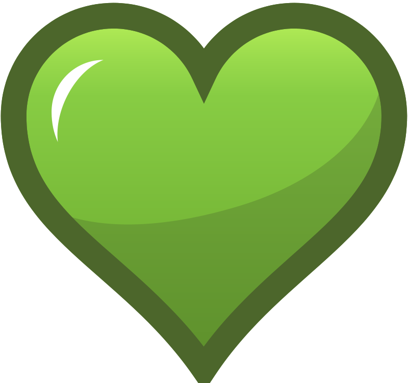 free vector Green Heart Icon