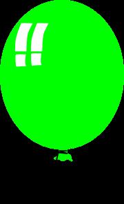 free vector Green Helium Baloon clip art
