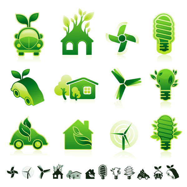 free vector Green icon vector