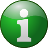 free vector Green Info clip art
