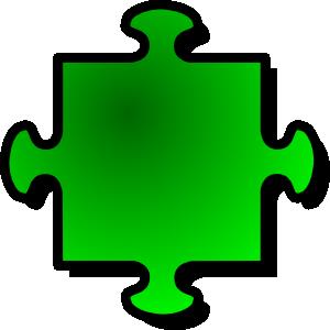 free vector Green Jigsaw Piece clip art