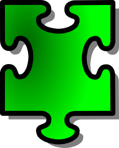 free vector Green Jigsaw Piece clip art