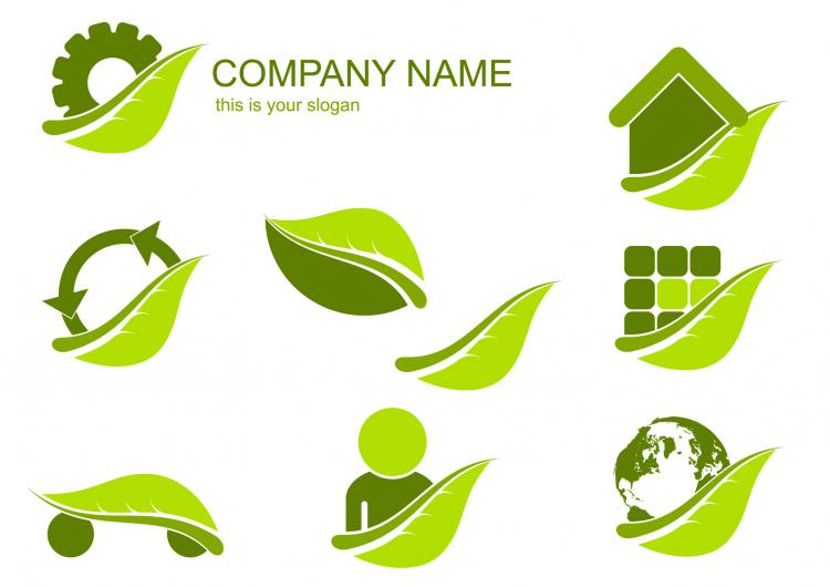 free vector Green label