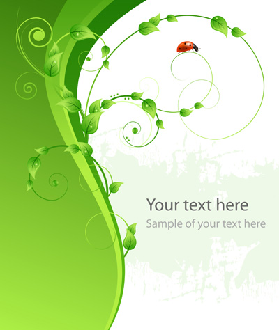 free vector Green ladybug vector