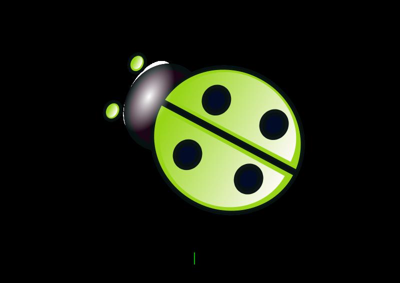 green ladybug clipart - photo #24