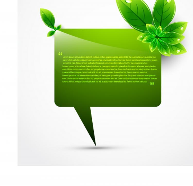 free vector Green leaf shape border 02 vector