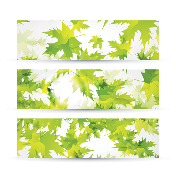 free vector Green Leaves Background Vector Material Green Leaves Fluttering The Maple Leaf