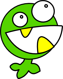 free vector Green Monster clip art
