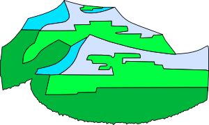 free vector Green Mountains clip art