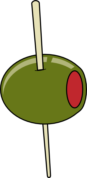 free vector Green Olive On A Toothpick clip art