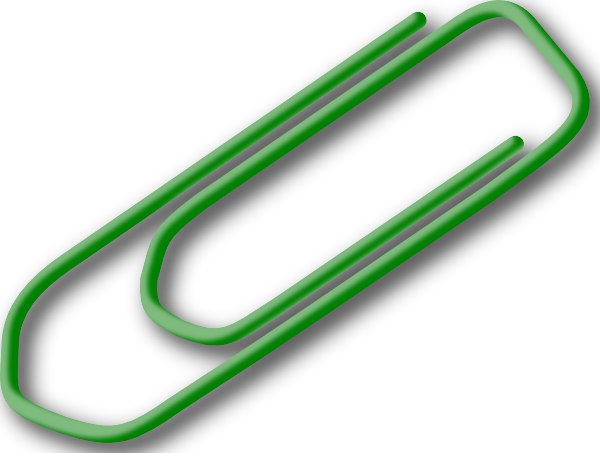 green paperclip clip art free vector 4vector rh 4vector com free clipart paper clip paper clip border clipart