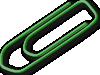 free vector Green Paperclip clip art
