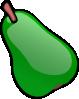 free vector Green Pear clip art