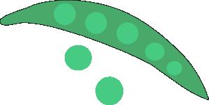 free vector Green Peas clip art