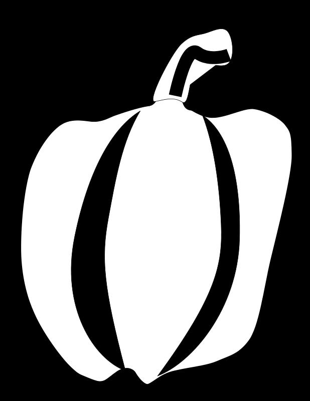 free vector Green Pepper Line Art