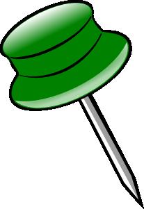 free vector Green Pin clip art