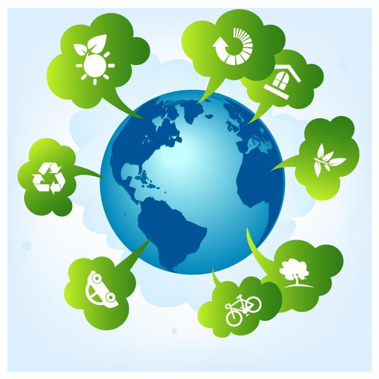 free vector Green planet concept