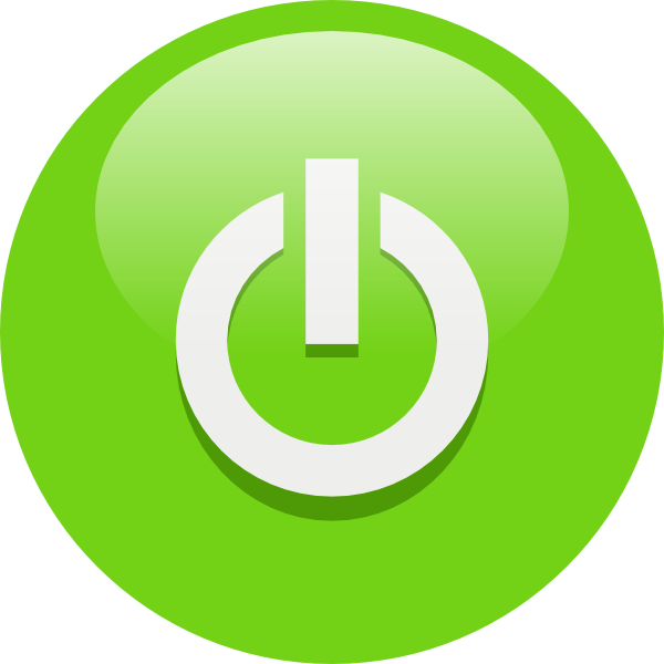 free vector Green Power Button clip art