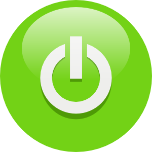 free vector Green Power Button clip art
