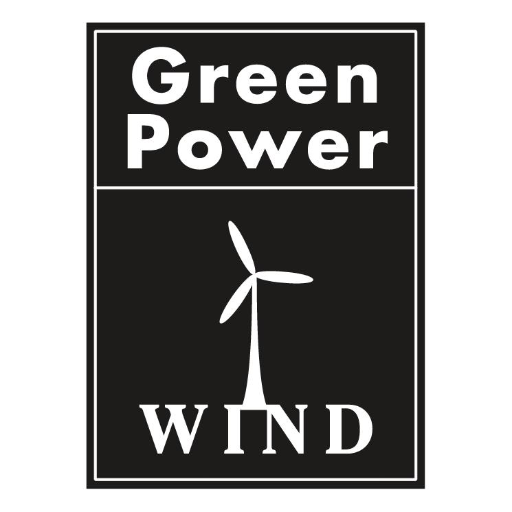 free vector Green power wind