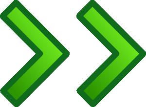 free vector Green Right Double Arrows Set clip art