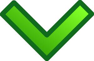 free vector Green Single Down Arrow Set clip art