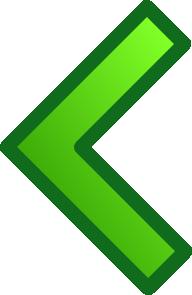 free vector Green Single Left Arrow Set clip art