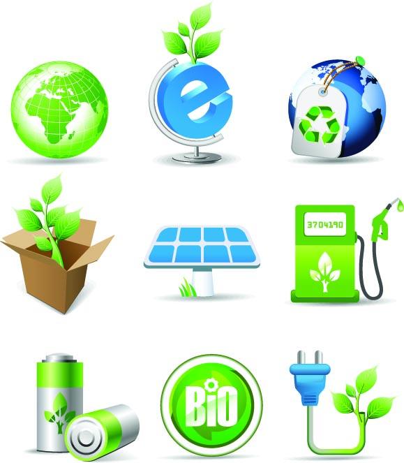 free vector Green theme icon vector