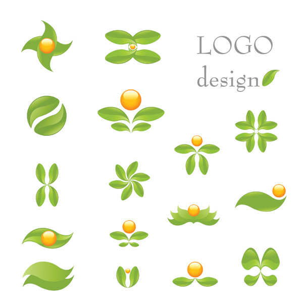 free vector Green theme logo template vector