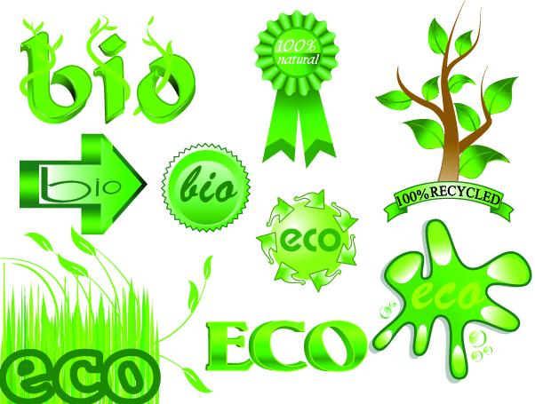free vector Green theme vector
