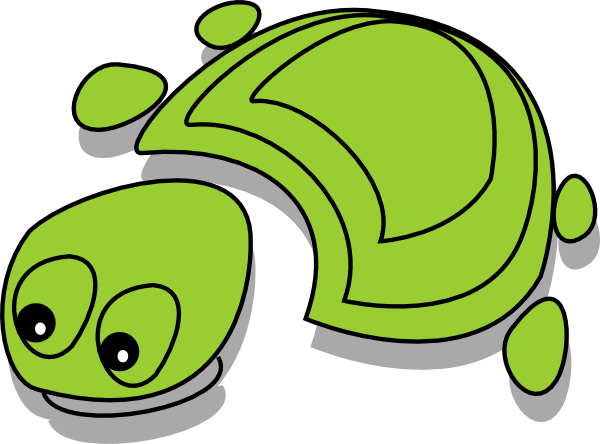 free vector Green Tortoise Cartoon clip art