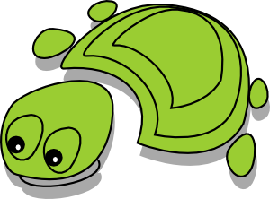 free vector Green Tortoise Cartoon clip art