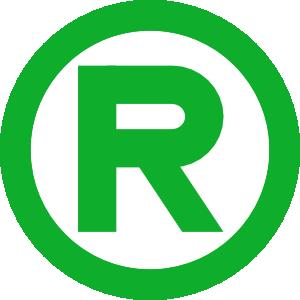 free vector Green Trademark clip art