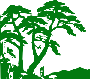 free vector Green Trees Silhouette clip art