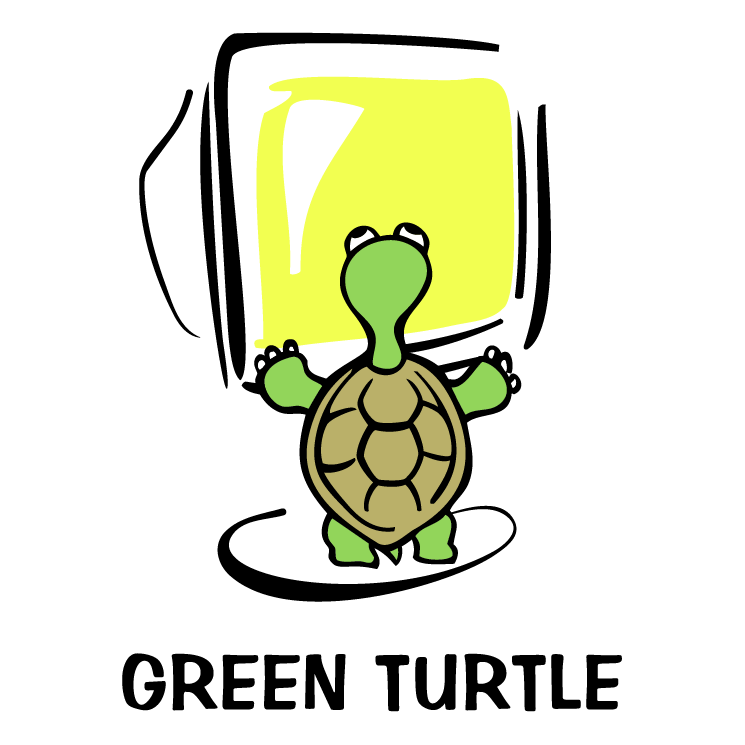 free vector Green turtle 1