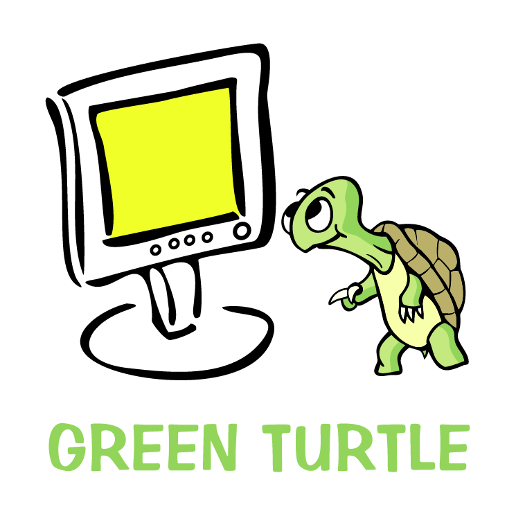 free vector Green turtle