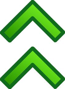 free vector Green Up Double Arrows Set clip art