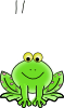 free vector Green Valentine Frog With Pink Hearts clip art 115444