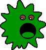 free vector Green Virus clip art