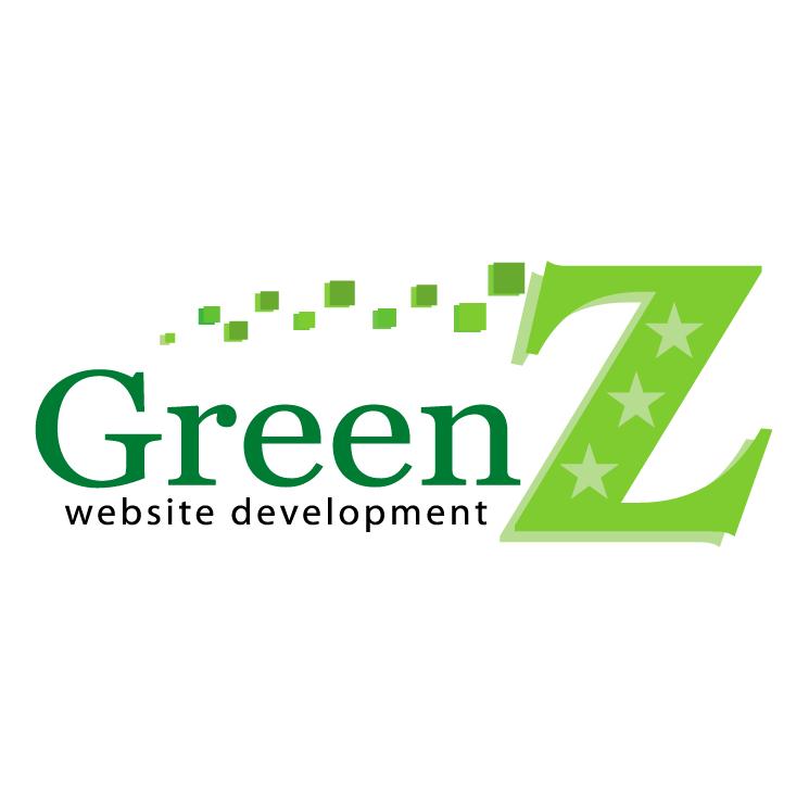 free vector Green z website development