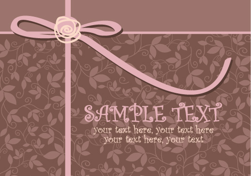 free vector Greeting card template vector