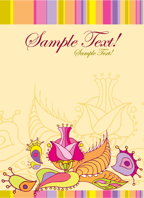 greeting card template 3412 free eps download  4 vector