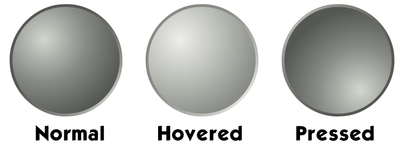 free vector Grey web button template