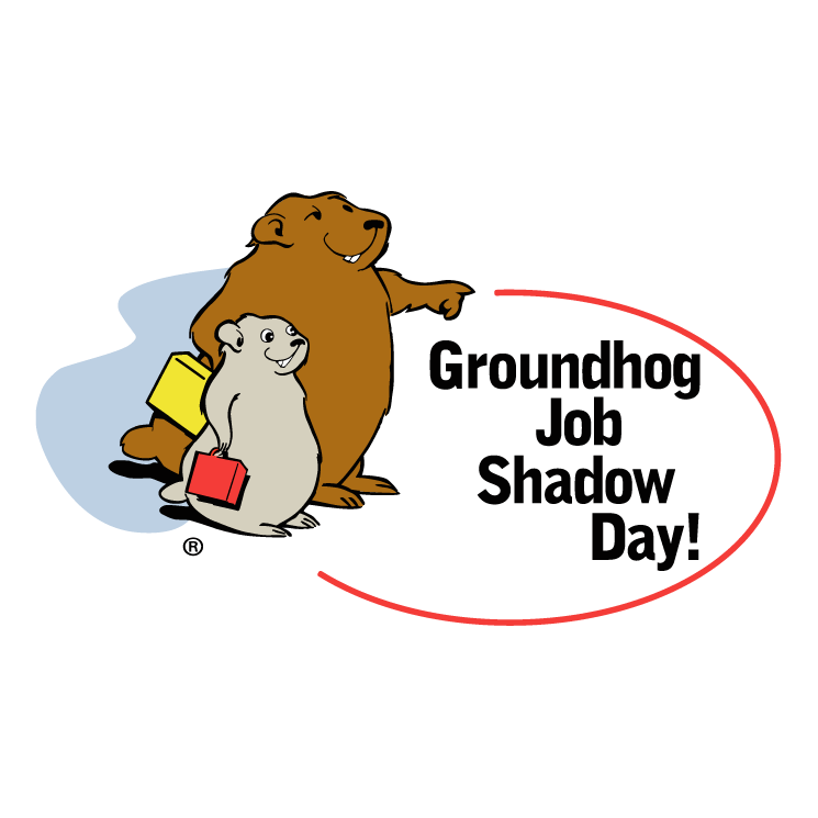 free vector Groundhog job shadow day