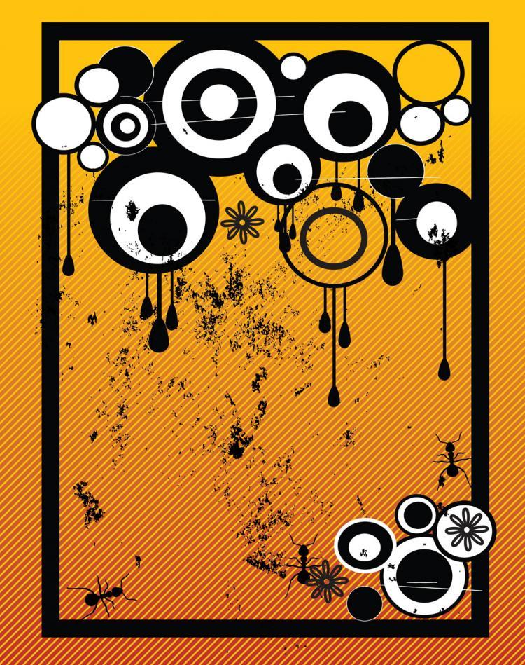 free vector Grunge Circles