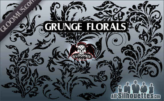 free vector Grunge Floral Shapes