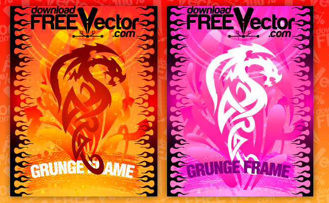 free vector Grunge Frame